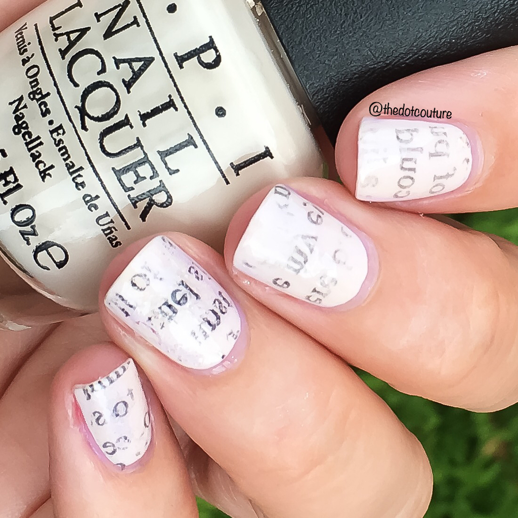 Newspaper Nail Art | CGH Lifestyle