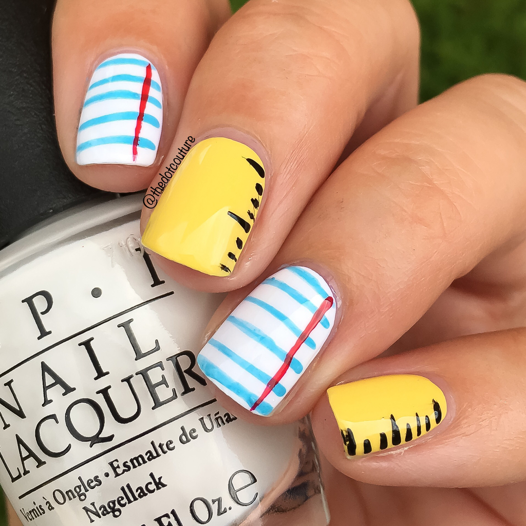 Ruler and Paper Nail Art | CGH Lifestyle