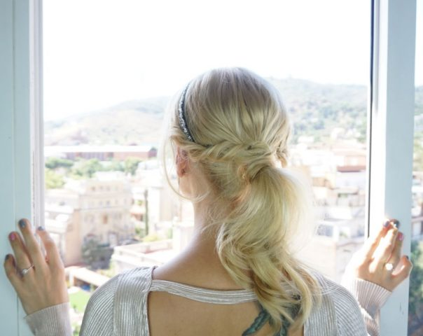 easy DIY homecoming hairstyle