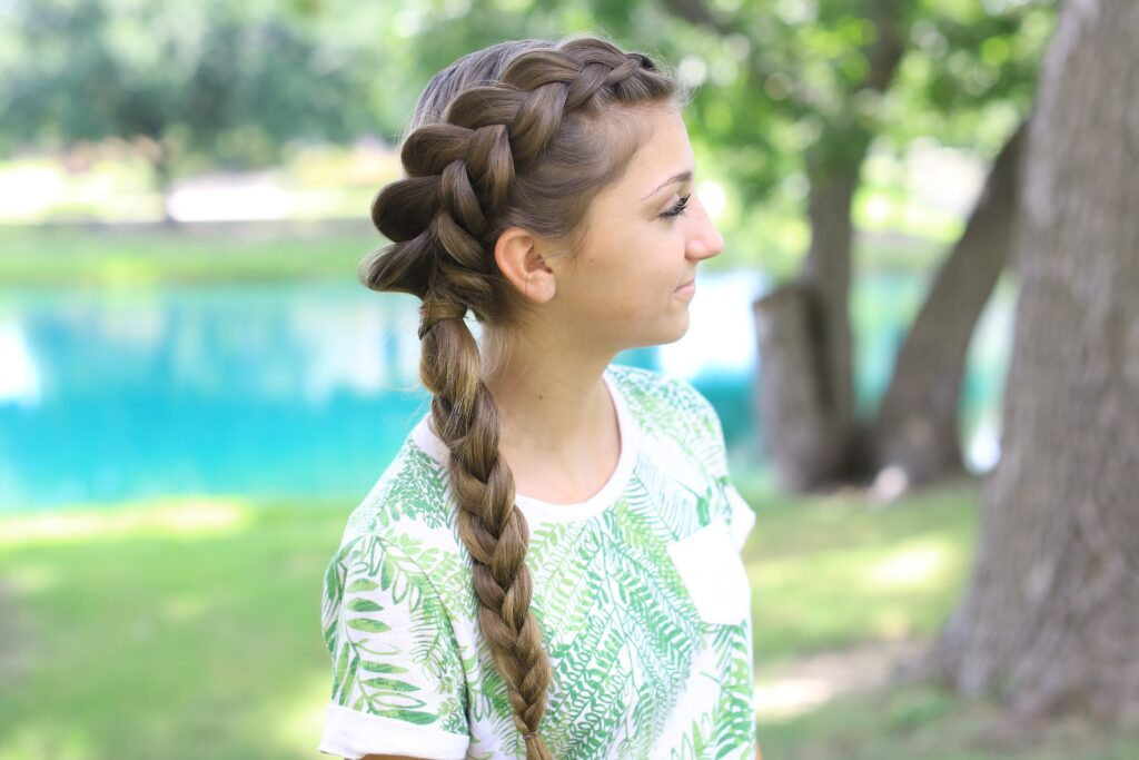 Side Ditch Braid Combo | Cute Girls Hairstyles