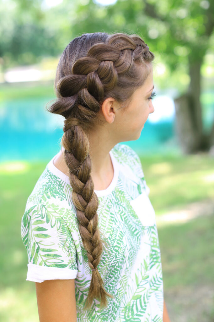 hairstyles cute braid side dutch combo braids hair hairstyle pretty fishtail styles bun avoid cgh brooklyn bailey lado double visit