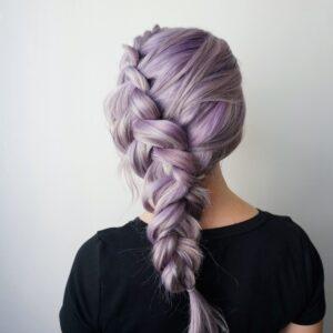 Purple Hair | Dutch Braid | Side Braid | Hair Extensions | Clip-in Hair Extensions