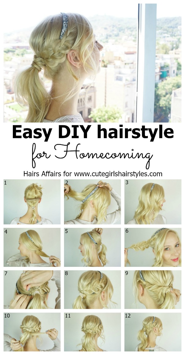 Beautiful cute hairstyles for dances ideas styles ideas 2018 easy diy homecoming hairstyle cute girls hairstyles solutioingenieria Images