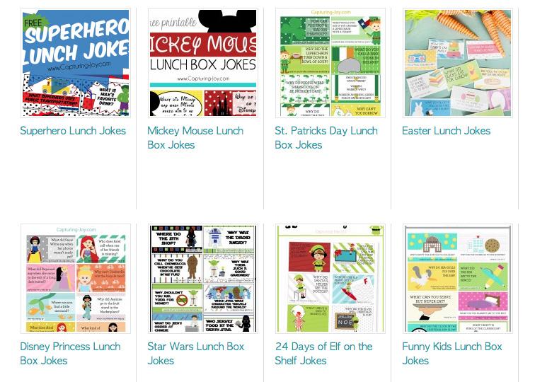 Printable Lunch Box Jokes   CGH Lifestyle