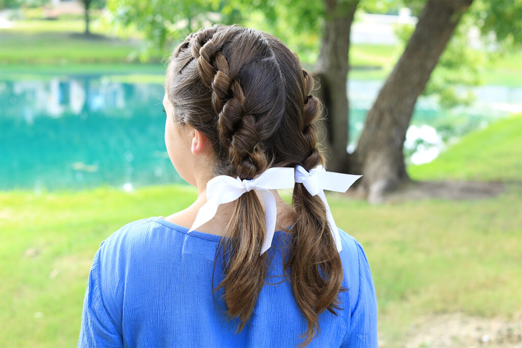 Double Knotted Braid   Cute Girls Hairstyles