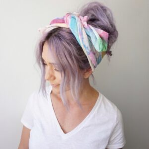 Purple Hair | Head Scarf | Boho | Bun | Messy Bun