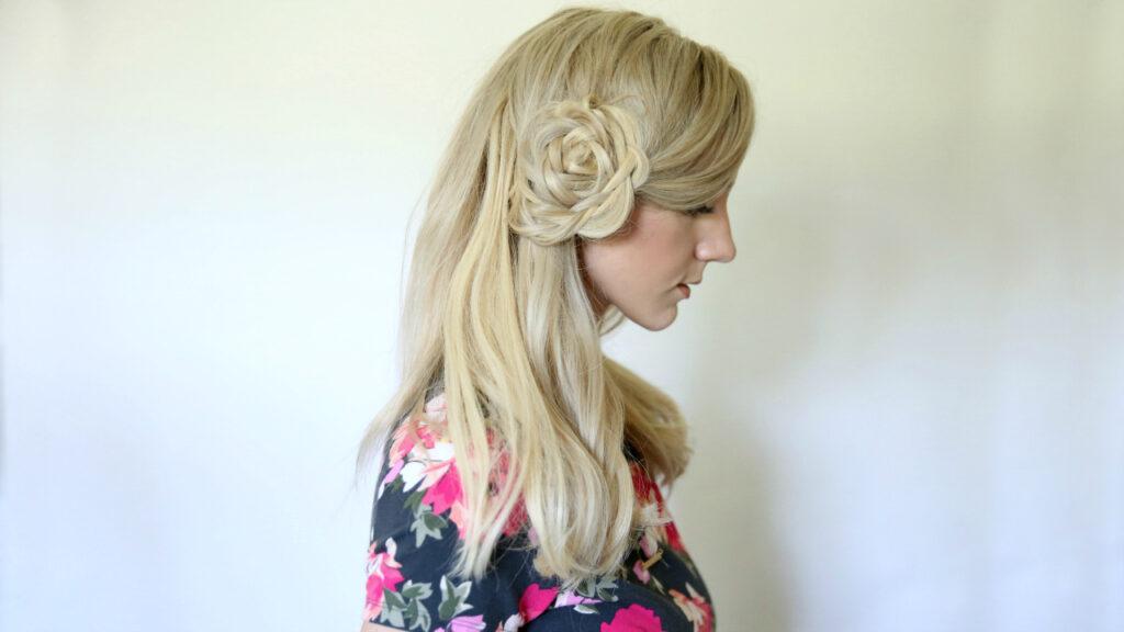 Flower Braid Bun   Cute Girls Hairstyles