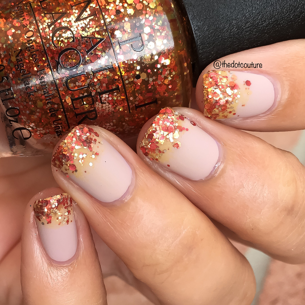 thanksgiving nail art fall glitter gradient
