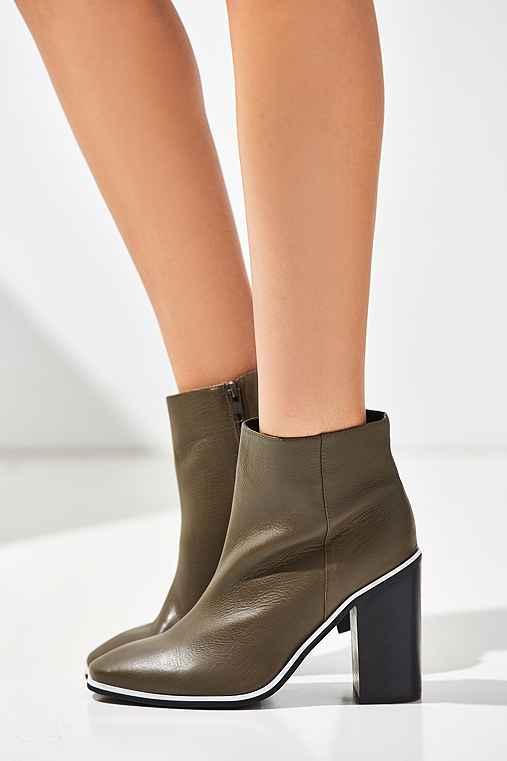 Sol Sana Fox Ankle Boot in Olive Green