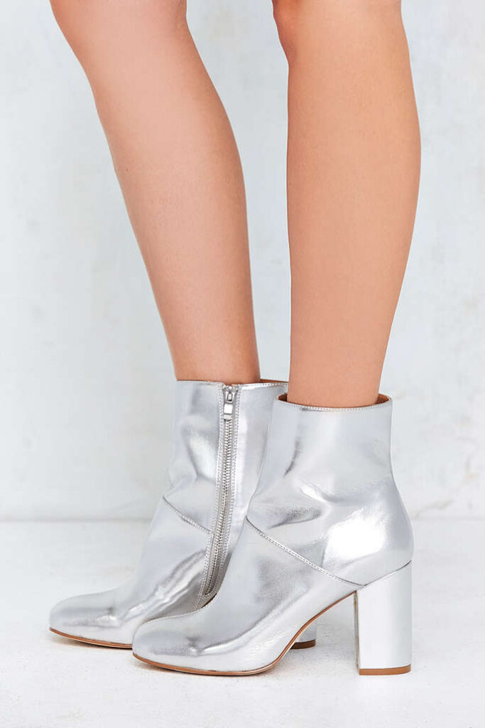Silver Metallic Ankle Boot | CGH Lifestyle