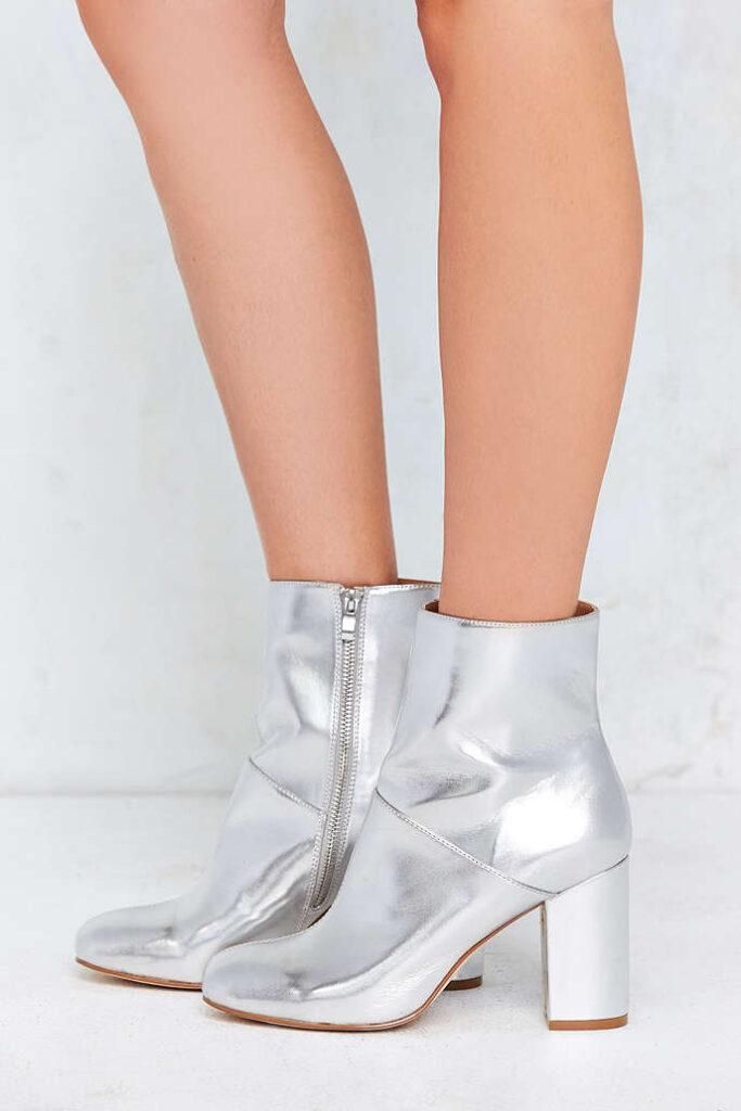 Zelda Metallic Ankle Boot