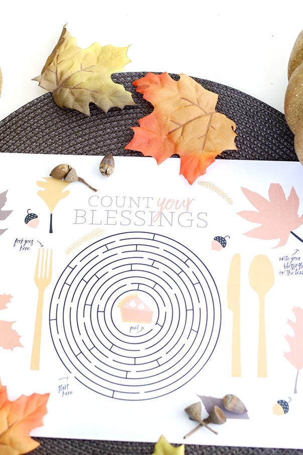 Thanksgiving Placemat | CGH Lifestyle