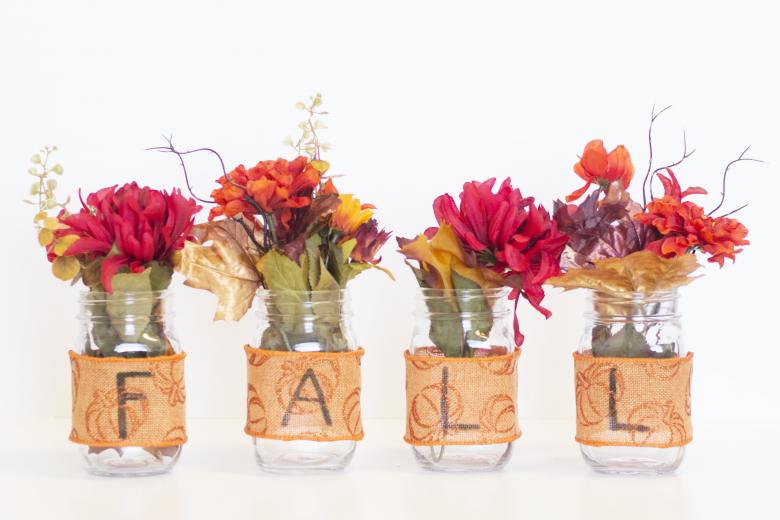 DIY Mason Jar Fall Decor