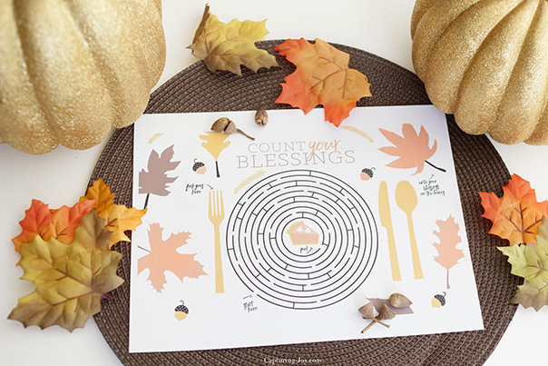 Thanksgiving Placemat | Printable | CGH Lifestyle
