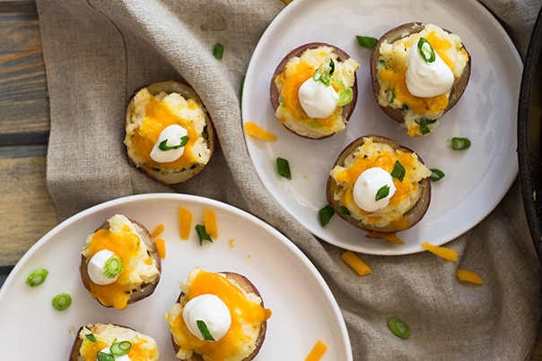 These Twice Baked Potatoes are a great appetizer for the holidays!