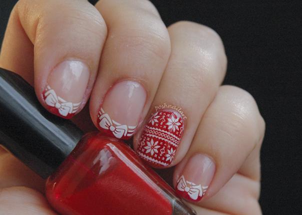 Christmas Sweater Nails | CGH Lifestyle