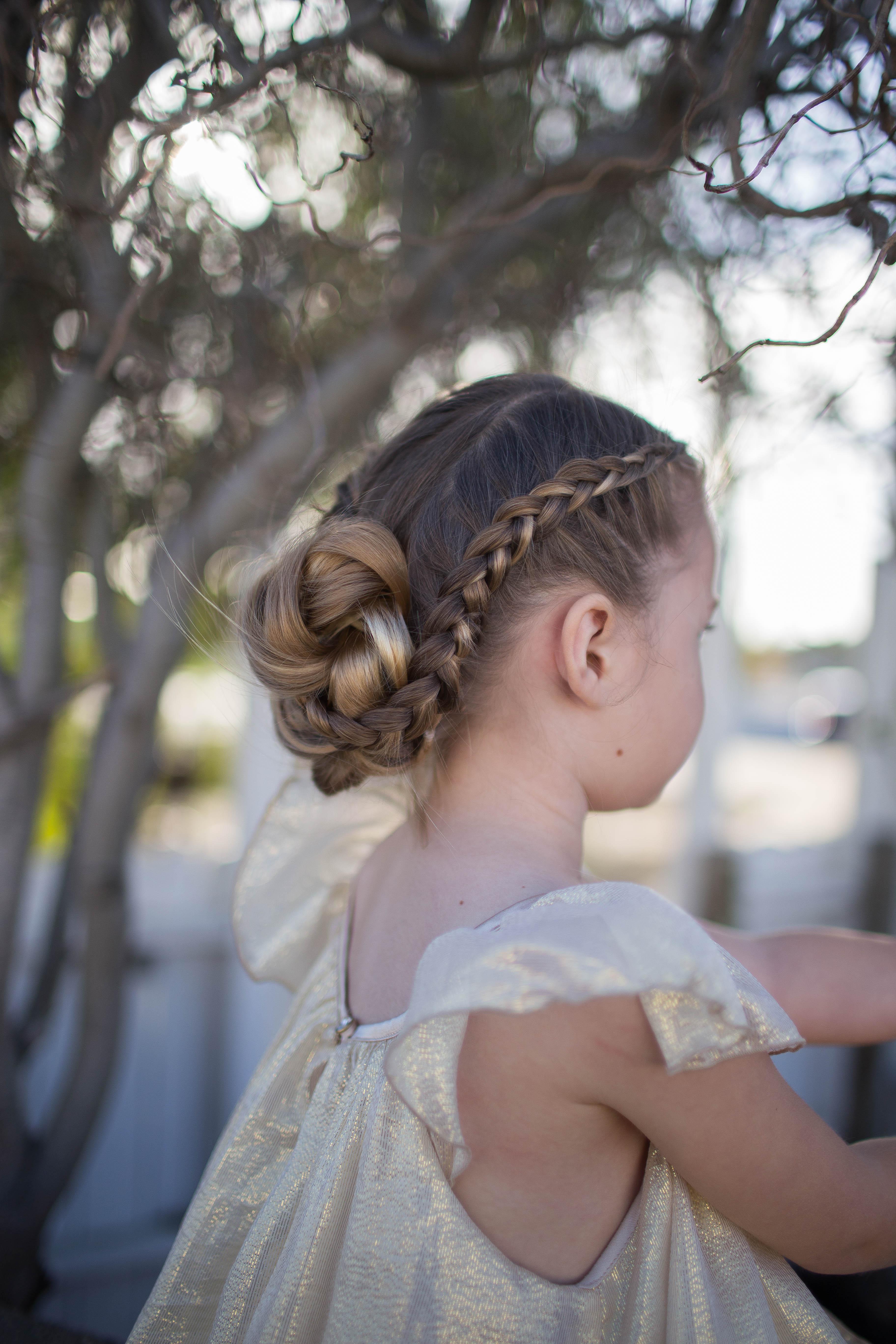 Braided Bun Updo | Cute Girls Hairstyles