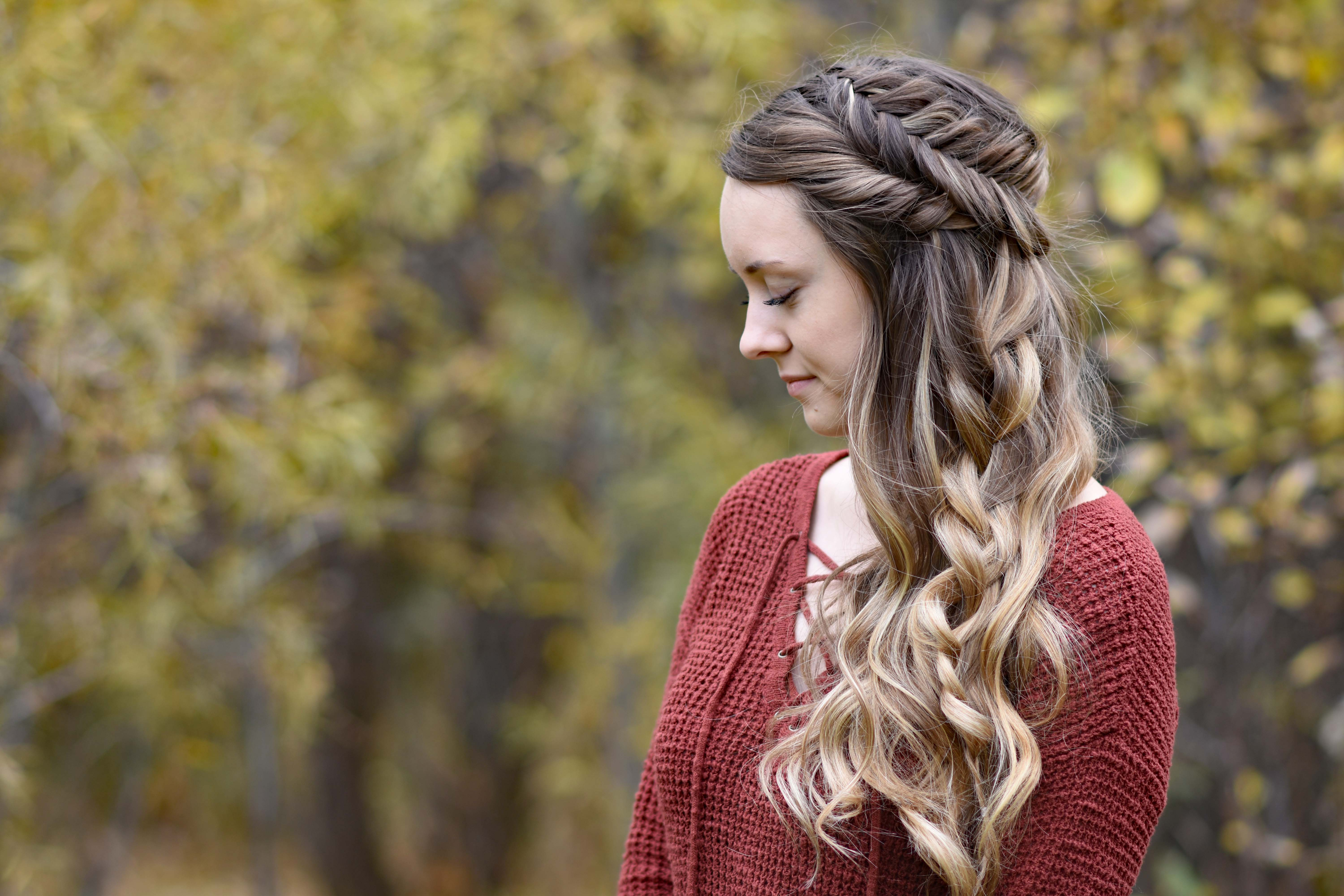 Side Swept Fishtail Updo Cute Girls Hairstyles