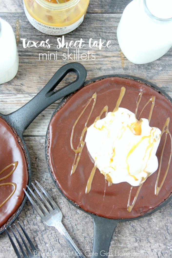 Texas Sheet Cake Mini Skillets | Chocolate | Dessert | Recipe