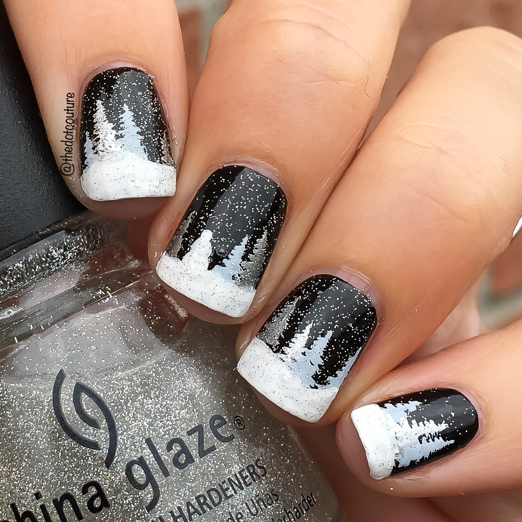 Winter Forest Nails | CGH Lifestyle