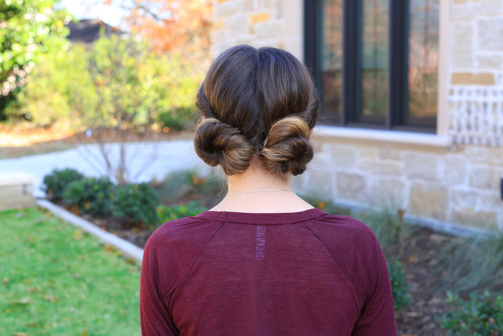 Twist Back Buns | Cute Girls Hairstyles