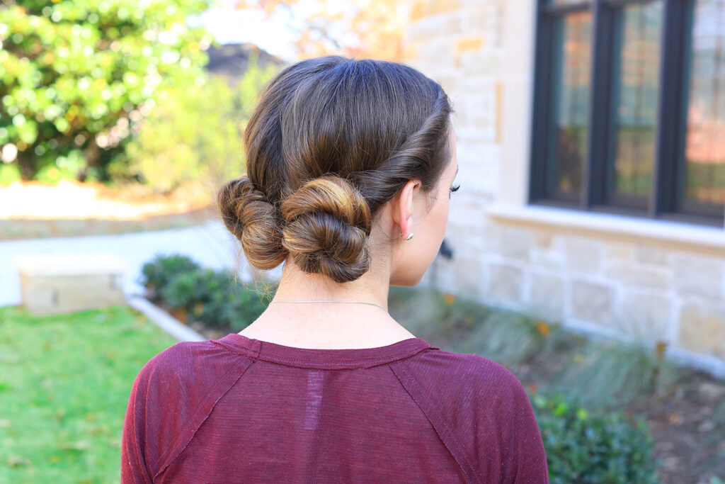 Double Twistback Buns | Cute Girls Hairsytles