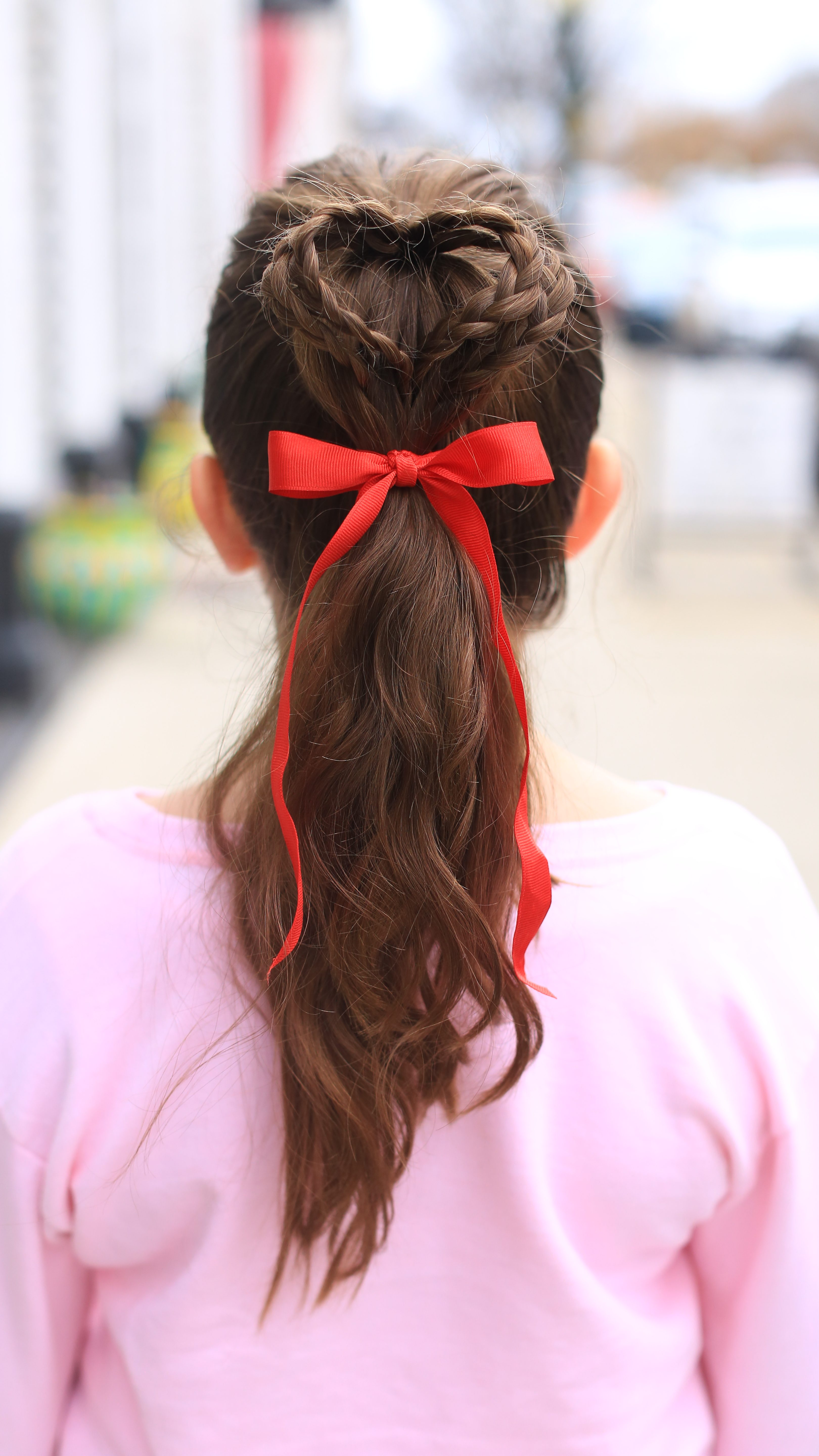 Double Heart Ponytail Cute Girls Hairstyles