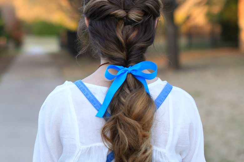 Ponytail Bow Cute Girls Hairstyles