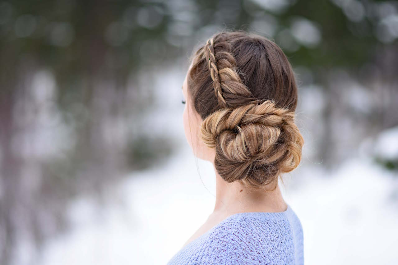 Stacked Fishtail Updo