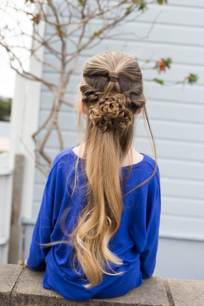 Flower Half-Up | Cute Girls Hairstyles