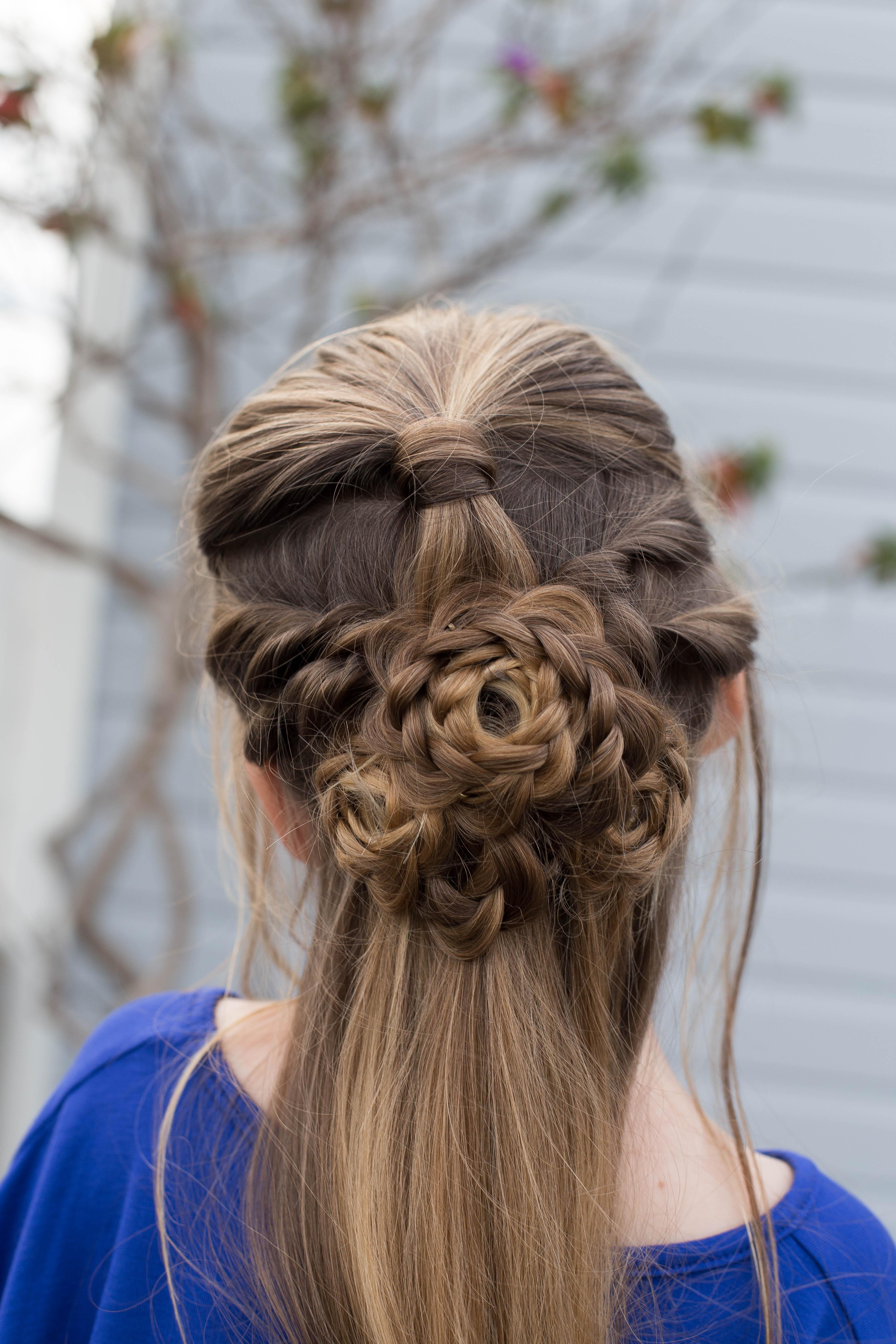 flower half up  cute girls hairstyles