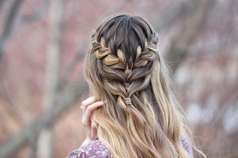 Lace Braid Half Up | Cute Girls Hairstyles