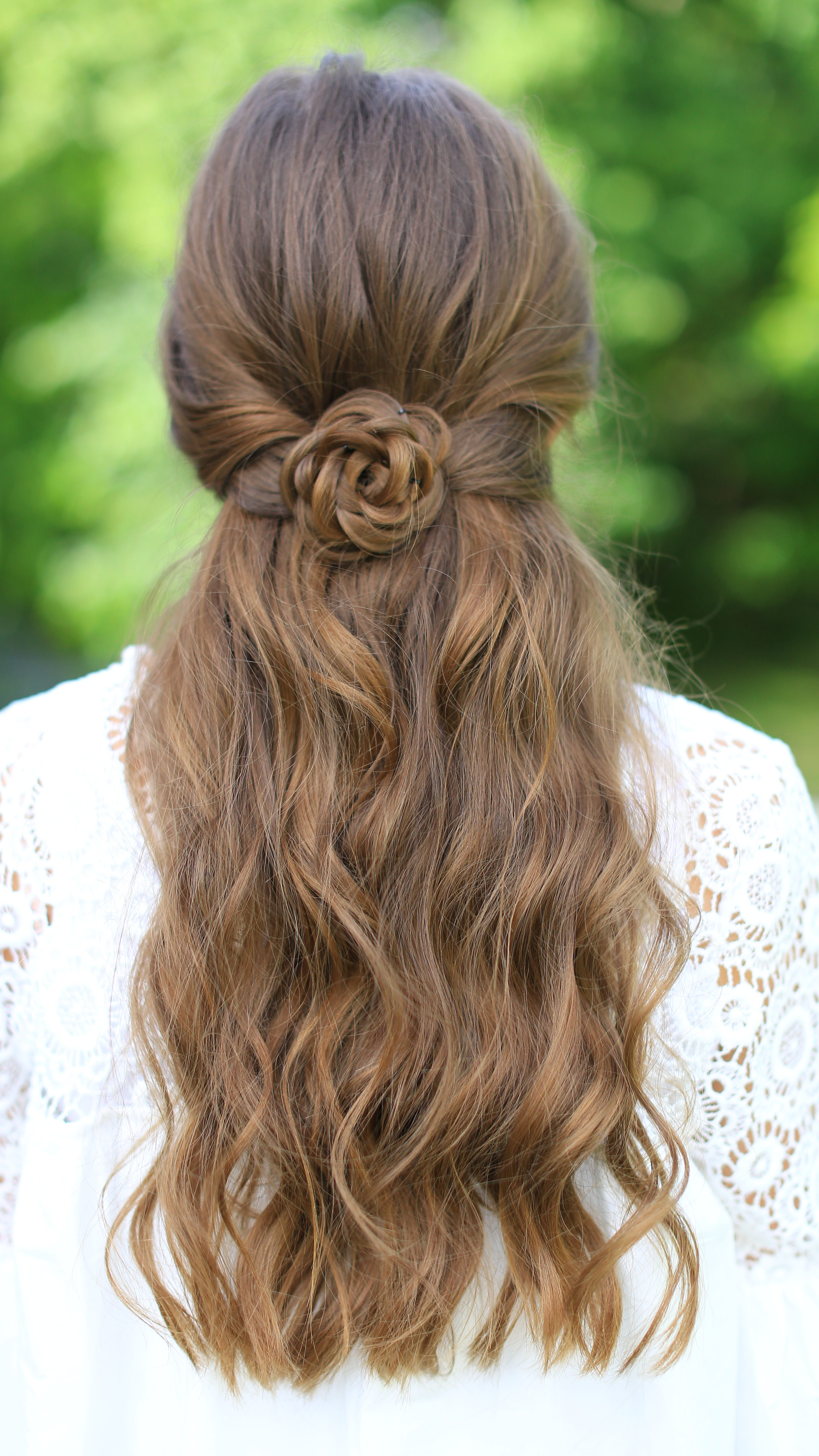 cute easy hair styles for girls rosette tieback hairstyles 7055 | DN0A9980 e1493679845882