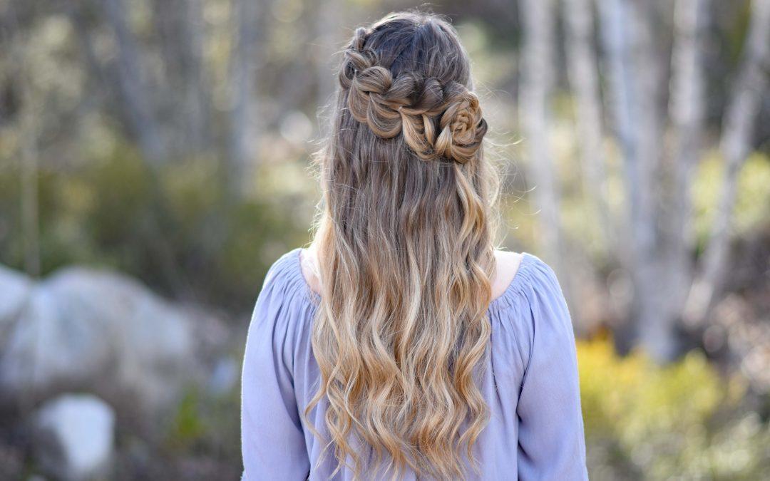 Lace Pull Thru Braid | Rosette Bun