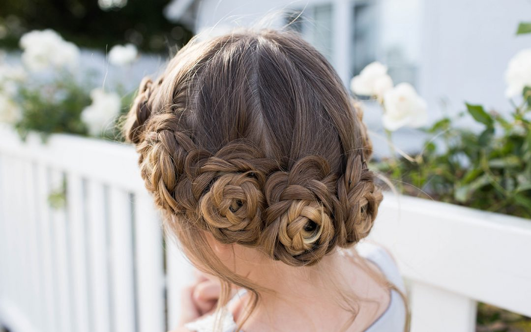 Flower Crown Braid Updo