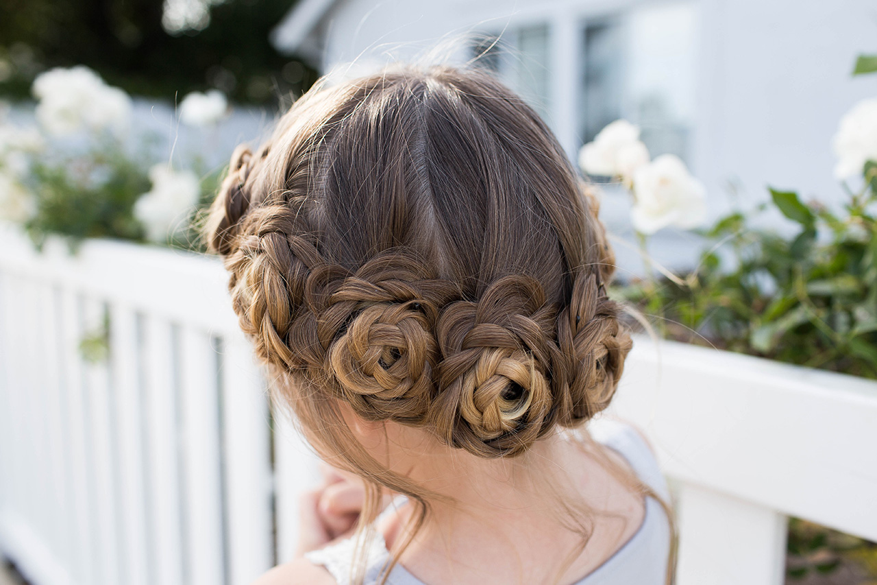 Flower Crown Braid Updo Cute Girls Hairstyles