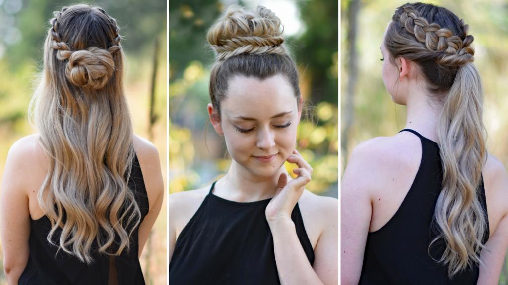 3 Easy DIY Hairstyles | Cute Girls Hairstyles