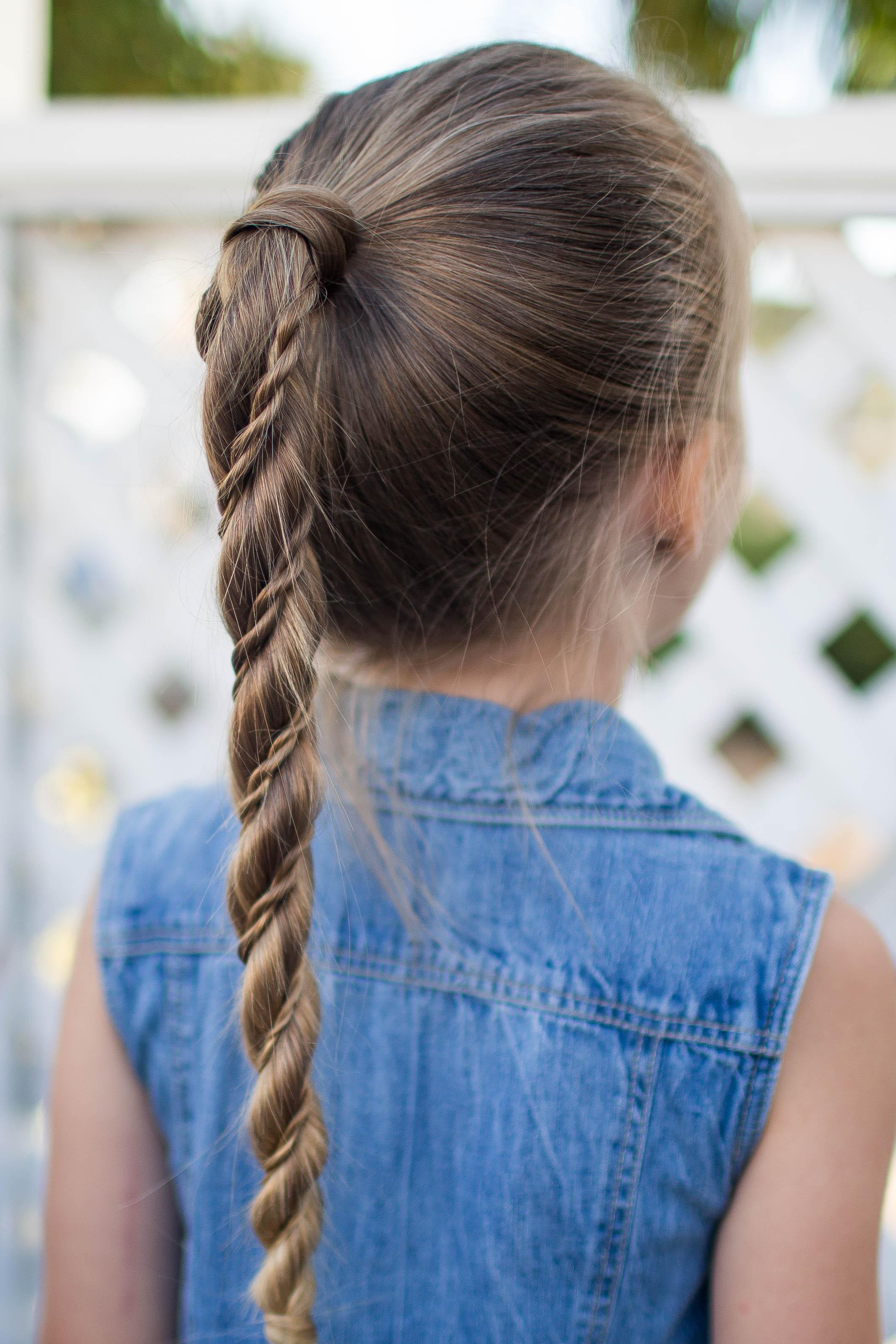 Twist Wrap Ponytail - Cute Girls Hairstyles