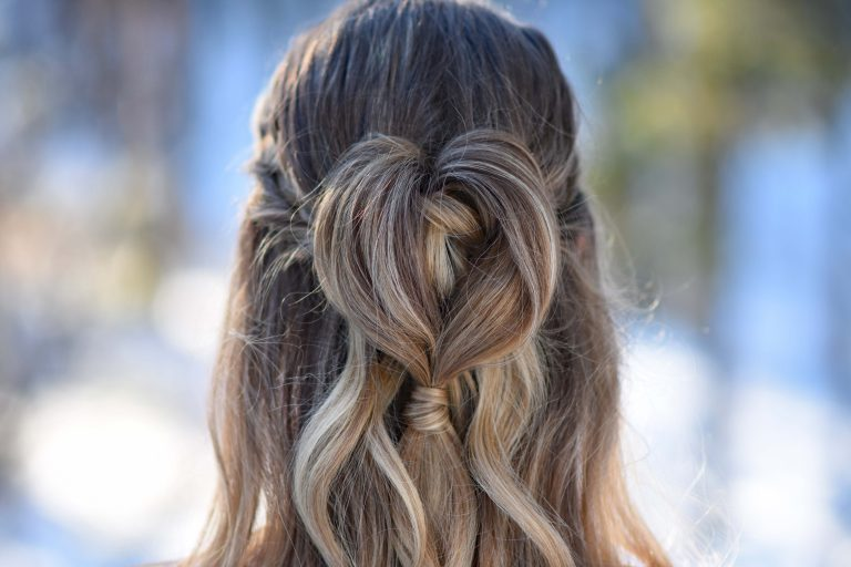 Half Up Heart Bun   Cute Girls Hairstyles