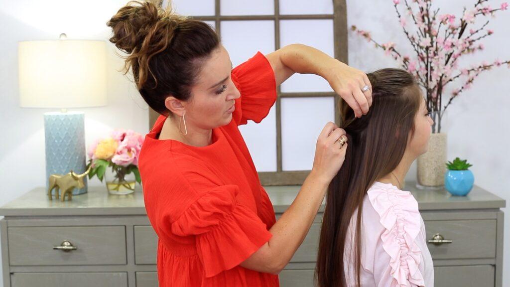 Heart Pull-Thru Braid   Cute Girls Hairstyles