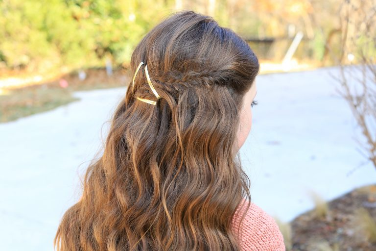 Barrette Tieback | Cute Girls Hairstyles