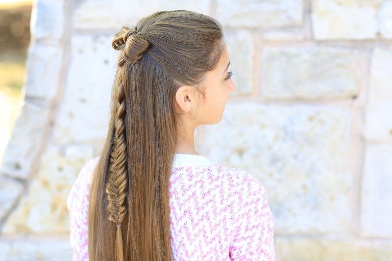 Half-up Bow Combo | Cute Girls Hairstyles