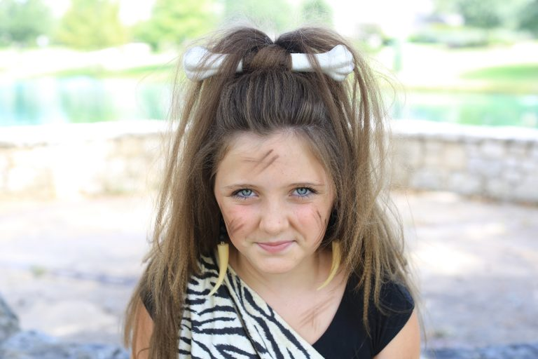 Cave Woman Half-Up | Cute Girls Hairstyles