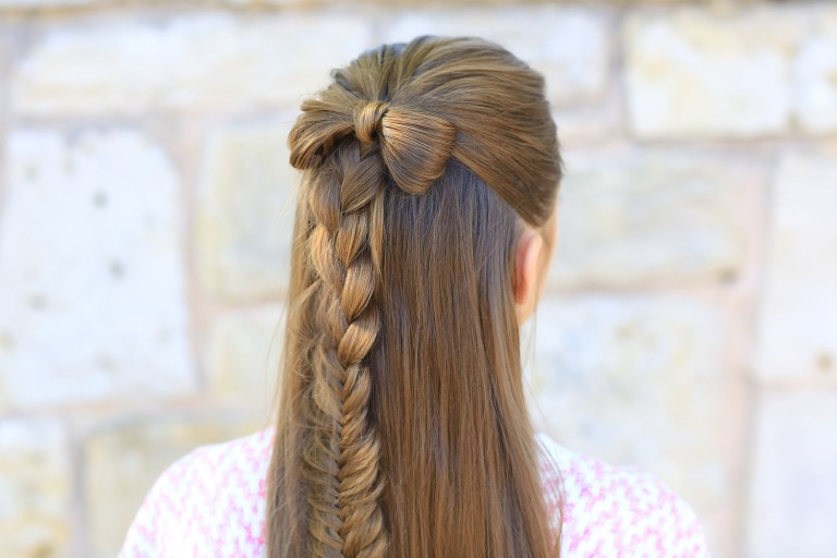 Half Up Bow Combo | Cute Girls Hairstyles