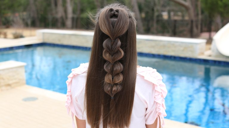 Heart Pull Thru Braid | Cute Girls Hairstyles
