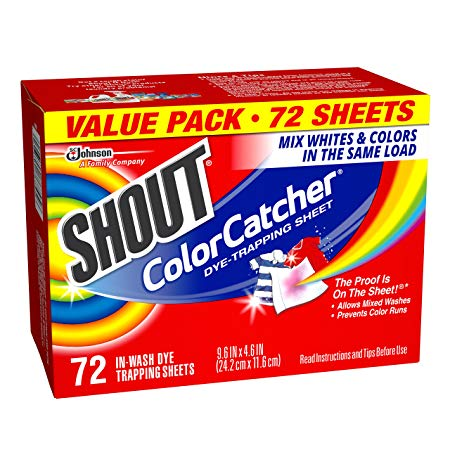 "Cleaning supplies, Shout ""ColorCatcher Dye Trapping Sheet"""