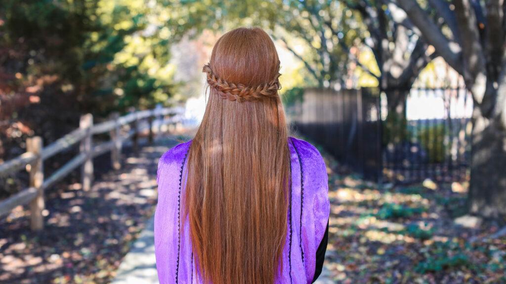 Frozen 2 Anna S Double Braid Back Cute Girls Hairstyles