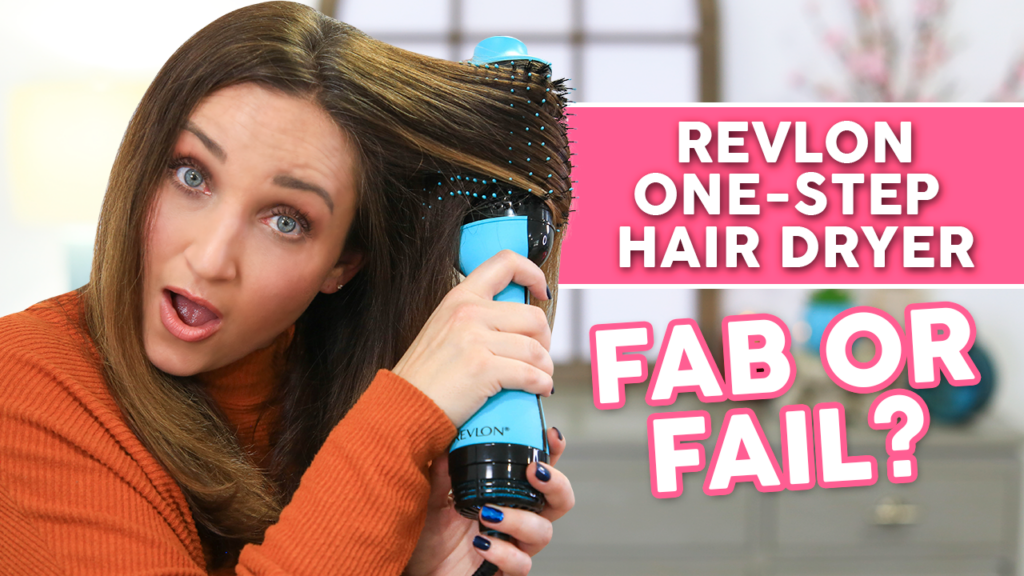 "Woman using a styling tool, ""Revlon One-Step Hair Dryer and Volumizer Fab or Fail?"""