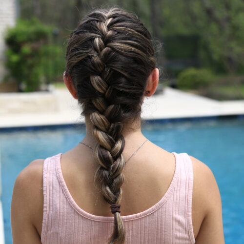 French braid look