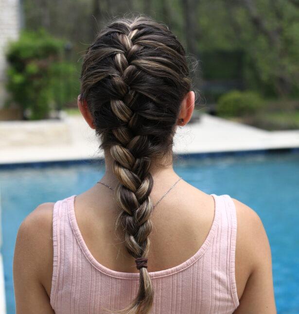 French braid look